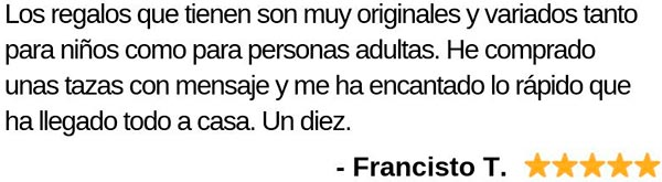 Opinión de Francisco sobre Factoría de Regalos